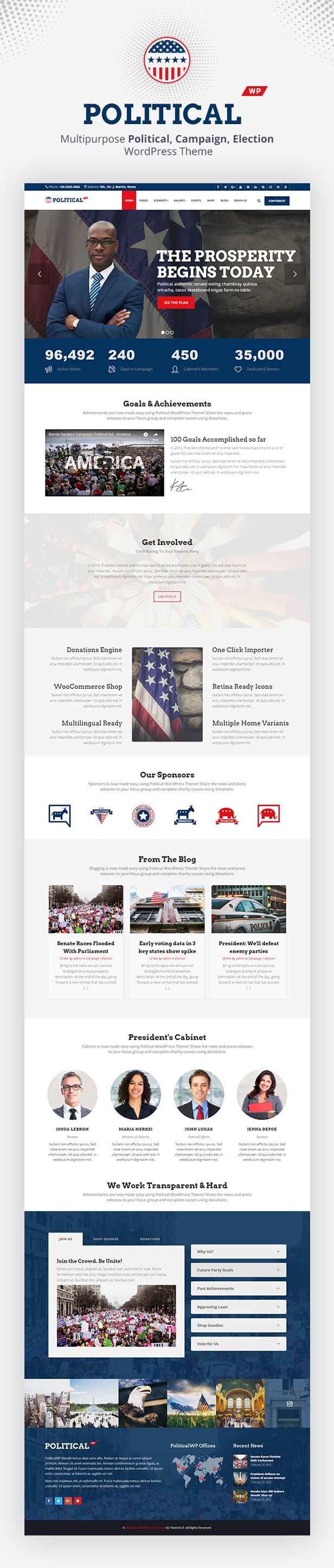 PoliticalWP - Multipurpose Campaign, Election WordPress Theme - 3