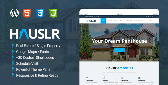 Hauslr – Single Property WordPress Theme