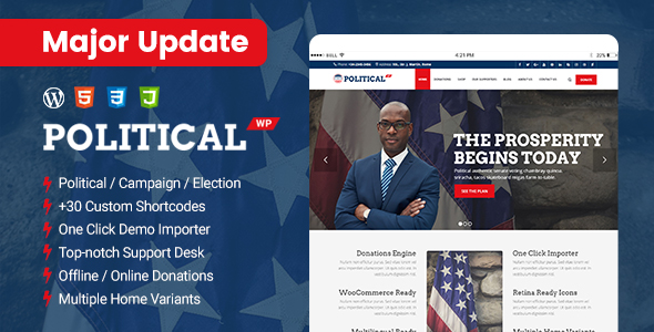 PoliticalWP – Political WordPress Theme