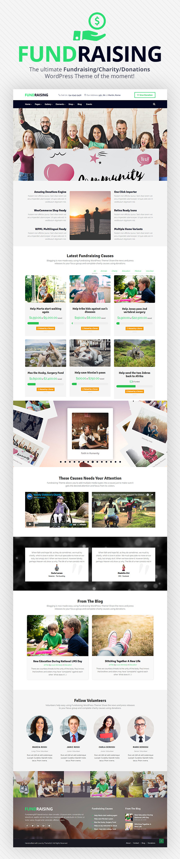 Fundraising - Charity/Donations WordPress Theme - 3